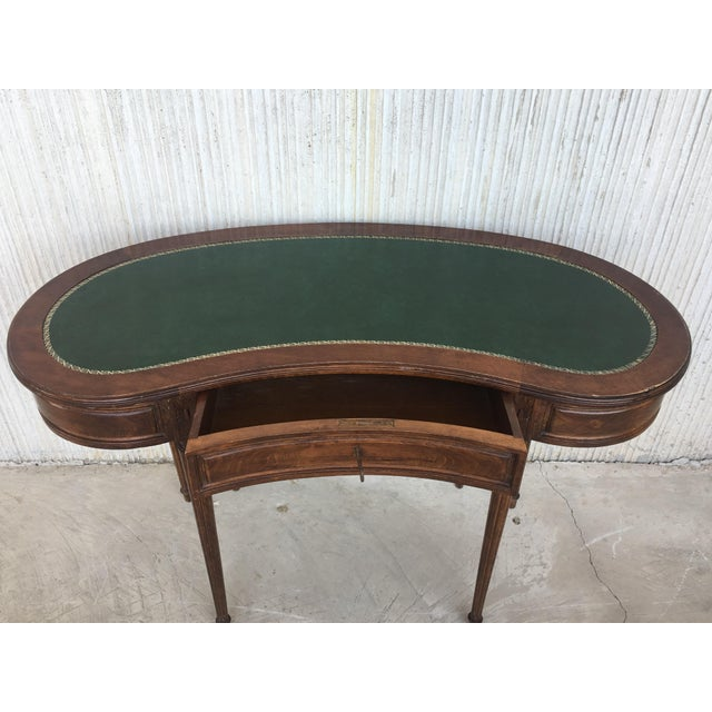 Coromandel and Marquetry Inlaid Victorian Period Kidney Lady Desk For Sale - Image 10 of 13