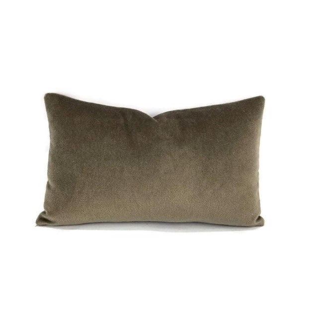 F. Schumacher Palermo Mohair Velvet Thyme Lumbar Pillow Cover For Sale In Portland, OR - Image 6 of 6