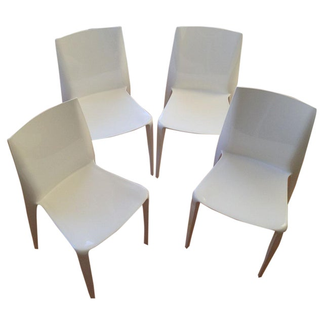 White High Gloss Bellini Chairs - Set of 4 - Image 1 of 5