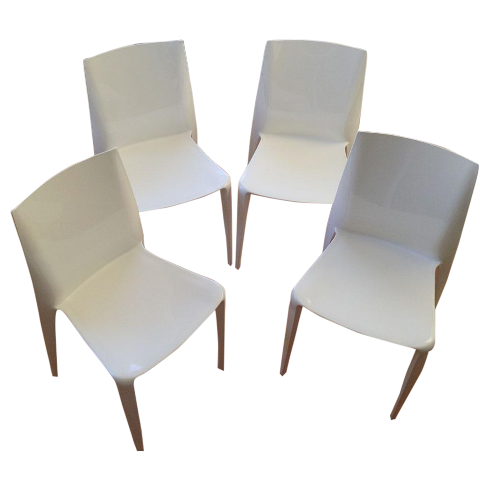 White High Gloss Bellini Chairs   Set Of 4