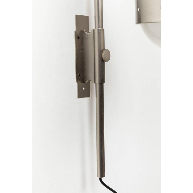 Silver 1960s Sergio Mazza 'Delta' Wall Lights for Artemide - a Pair For Sale - Image 8 of 10