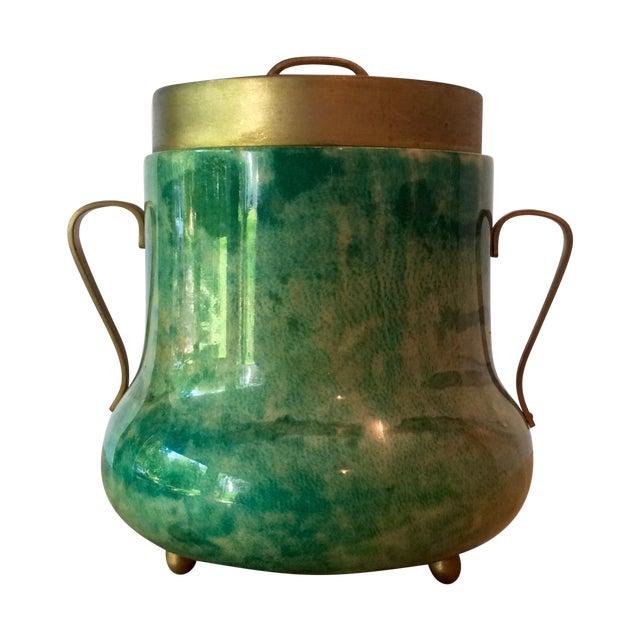 Aldo Tura Lacquered Goatskin Ice Bucket - Image 1 of 8