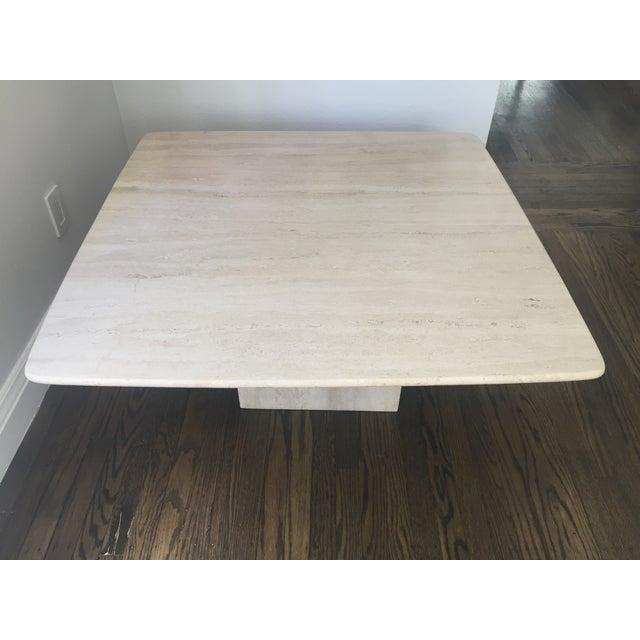 Italian Italian Travertine Marble Coffee Table For Sale - Image 3 of 9