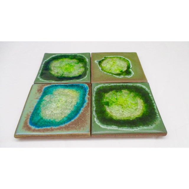 Geode Crackle Glass Coasters - Set of 4 For Sale - Image 10 of 10
