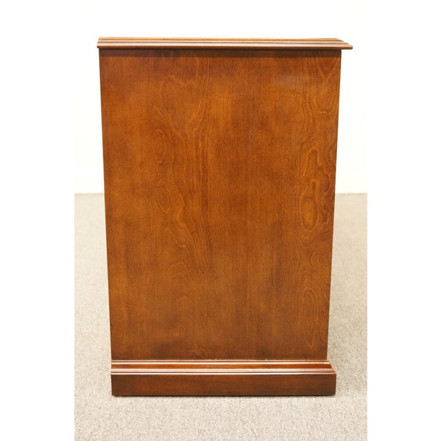 """Sligh Furniture Solid Cherry Chippendale 74"""" Double File Cabinet Credenza For Sale - Image 12 of 13"""