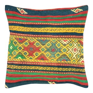 "Nalbandian - Turkish Kilim Pillow - 20"" X 20"" For Sale"