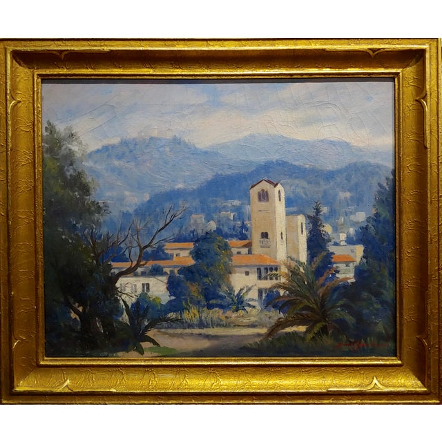 David Gershuni - Griffith Park, Los Angeles 1930s-Oil painting oil painting on canvas -Signed circa 1938 frame size 22 x...