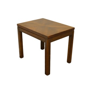 "Traditional Lane Furniture Bookmatched Walnut 20x26"" Accent Table For Sale"