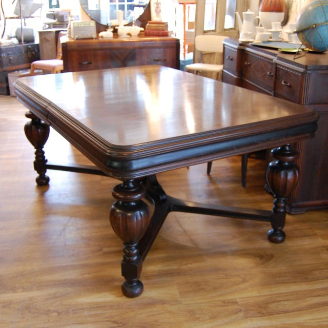 Brown Vintage Traditional Mahogany Table For Sale - Image 8 of 8