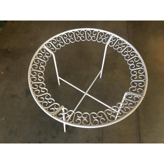 Mid-Century Modern Ribbon Patio/Outdoor Picnic Table by Maurizio Tempestini for Salterini For Sale - Image 3 of 9