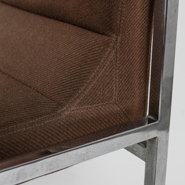 """Metal Unique Set of Six """"Wright/Wright"""" Chairs by Nanda Vigo for Driade For Sale - Image 7 of 10"""