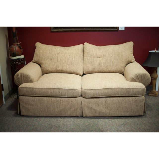 Hickory White Speckled Tan Love Seat - Image 2 of 10