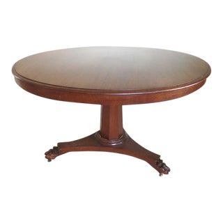 "Victorian Tilt-Top 46"" Round Table"