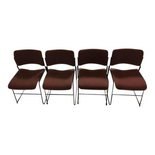 1980s Vintage David Rowland 40/4 Stacking Chairs- Set of 4 For Sale