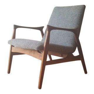 1950s Arne Hovmand-Olsen Lounge Chair (Model 240) for Mogens Kold Møbelfabrik - Newly Upholstered For Sale