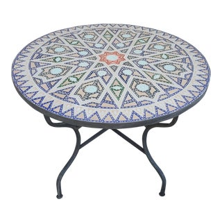 "40"" Chelhawiya Multi-Color Mosaic Dining Table For Sale"