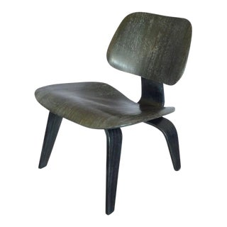 Eames Original Finish Ebonized Lcw With Label For Sale