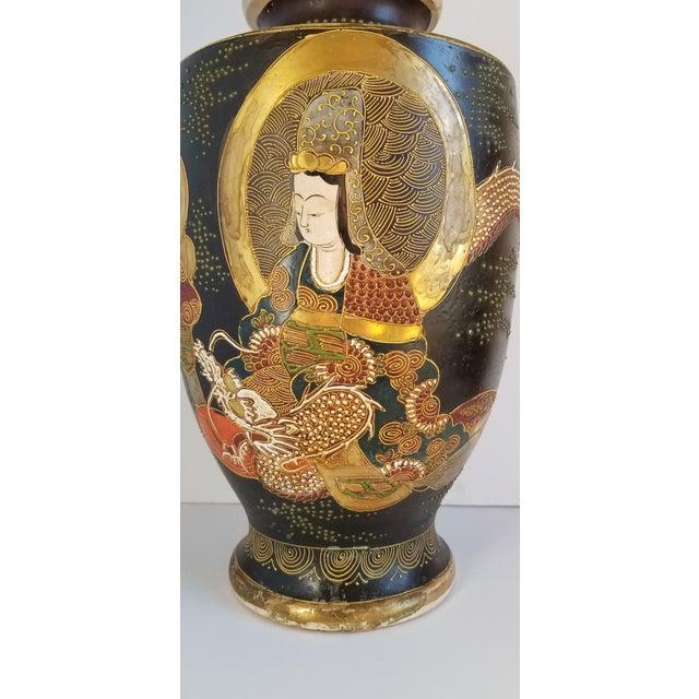 Metal Early 20th Century Satsuma Century Japanese Vase For Sale - Image 7 of 13
