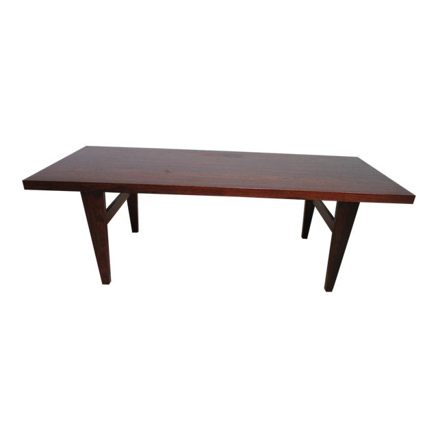 Vintage Mid Century Danish Modern Rosewood Surfboard Coffee Table