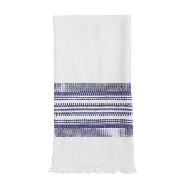 Modern Periwinkle & White Kitchen Towel For Sale - Image 3 of 3