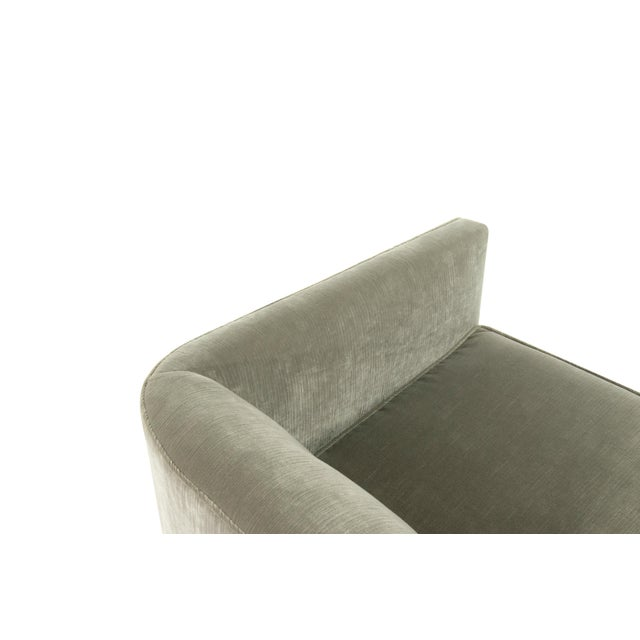 Mid-Century Modern Mid-Century Modern Tub Chairs in Chenille For Sale - Image 3 of 12