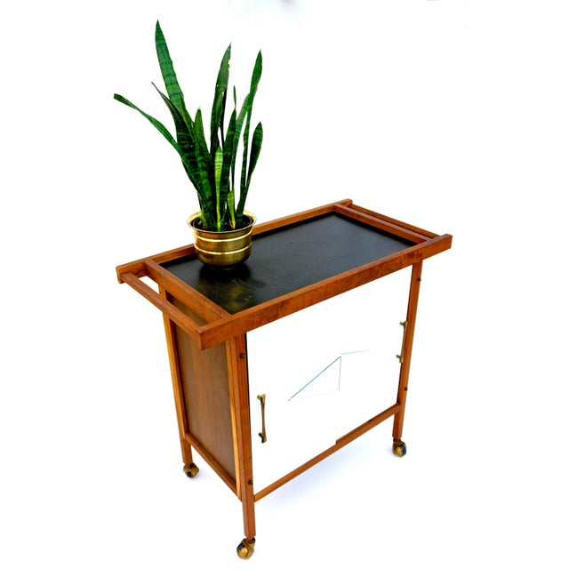 Mid-Century Danish Modern Teak Bar Cart - Image 4 of 11