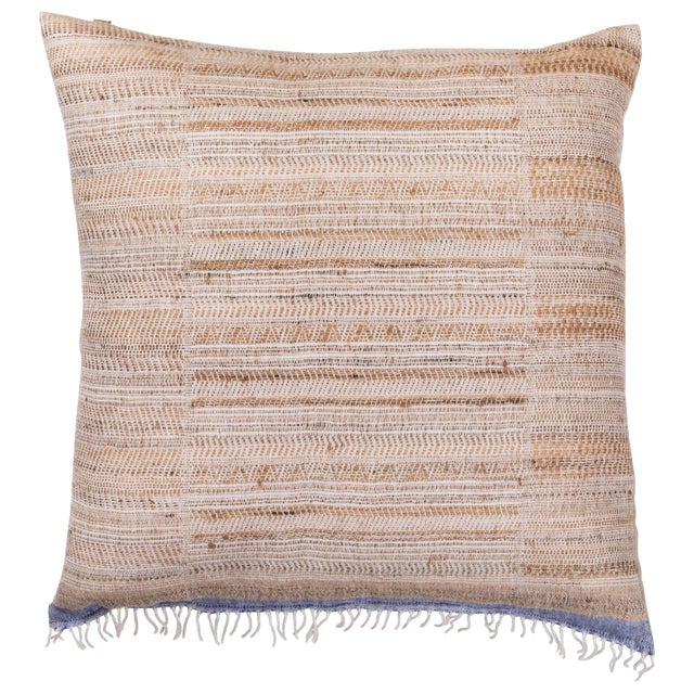 Indian Handwoven Pillow Hand Variation Arrow For Sale
