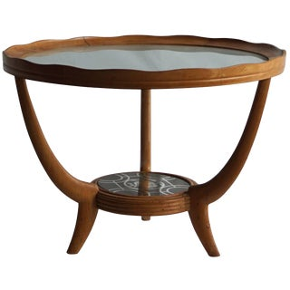 Mid-20th Century Italian Round Side Table For Sale