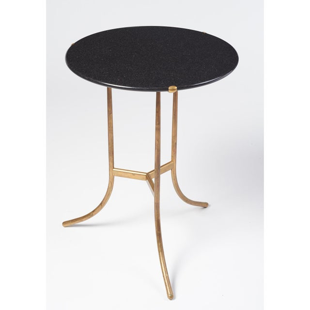 Cedric Hartman Cedric Hartman Black Granite AE Small Table, 1973 For Sale - Image 4 of 6