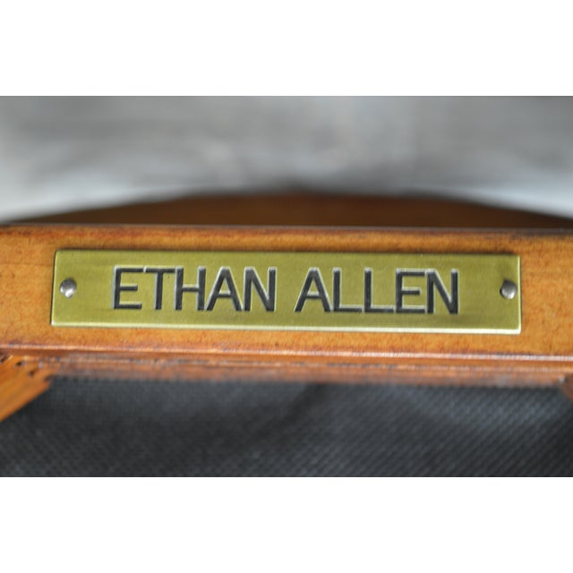 Ethan Allen Regency Style Counter Bar Stools - A Pair For Sale - Image 10 of 11