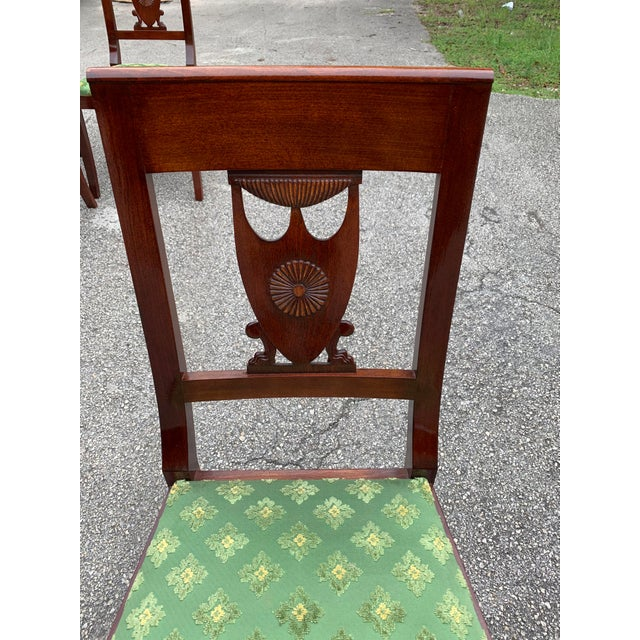1910s French Empire Solid Mahogany Dining Chairs - Set of 6 For Sale - Image 9 of 13