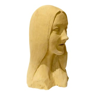 1960s Ceramic Bust Sculpture of a Woman For Sale