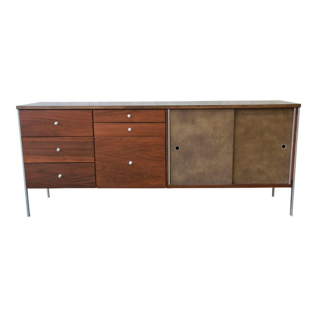 Paul McCobb Area Plan Units Mid-Century Modern Walnut Low Credenza For Sale - Image 14 of 14
