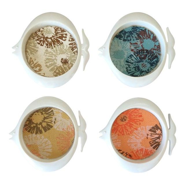 Mid-Century Plastic Fish Coasters - Set of 4 - Image 1 of 11