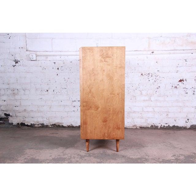 Edmond Spence Wave Front Highboy Dresser For Sale - Image 11 of 13