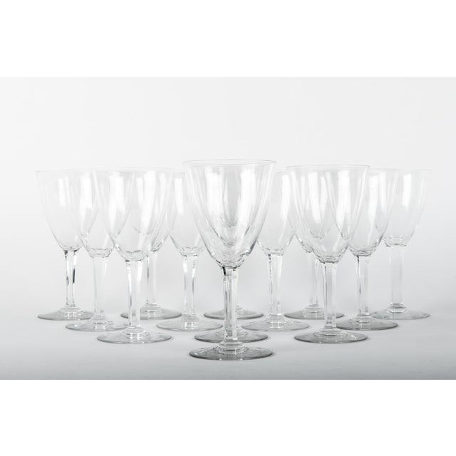 Baccarat Vintage Baccarat Crystal Glasses - Set 12 For Sale - Image 4 of 5