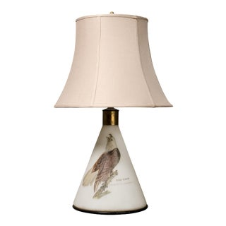 Hand Painted Bald Eagle Americana Table Lamp For Sale