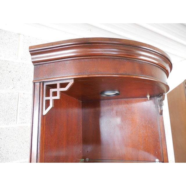 Drexel Chippendale Mahogany Lighted Corner Cabinets - A Pair - Image 5 of 10