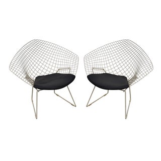 Harry Bertoia for Knoll Lounge Chairs - Pair For Sale