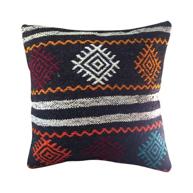 Vintage Turkish Kilim Pillow Case For Sale