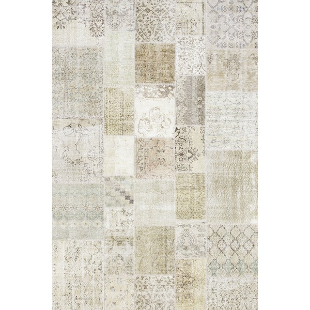 """Overdyed Patchwork Rug - 6' 7"""" X 9' 9"""" - Image 1 of 2"""
