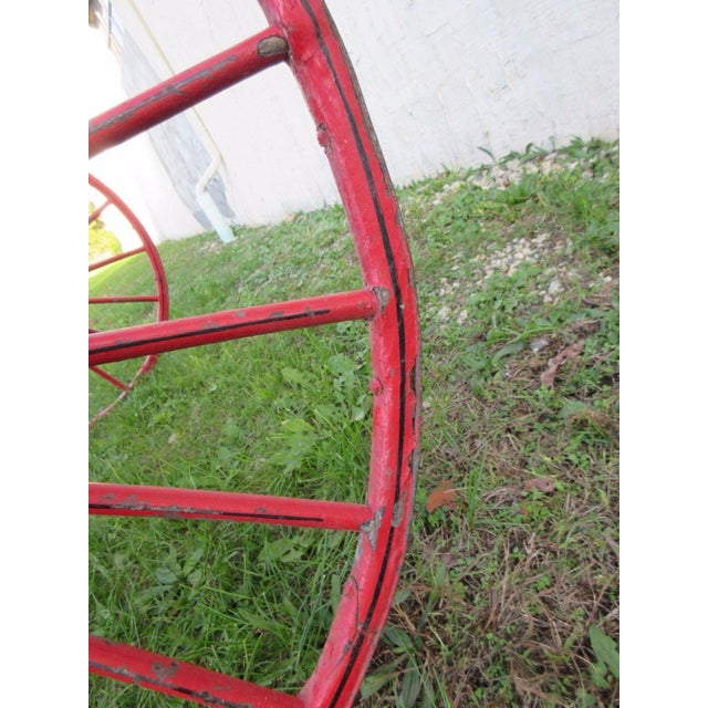 Antique Primitive Red Horse Racing Sulky Training Cart Wagon