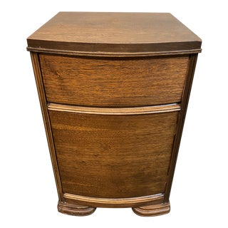 Early 20th Century Deco Nightstand + Drawer For Sale