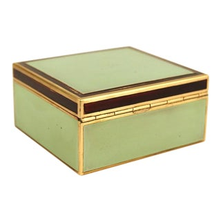 Art Deco Painted Brass Box For Sale