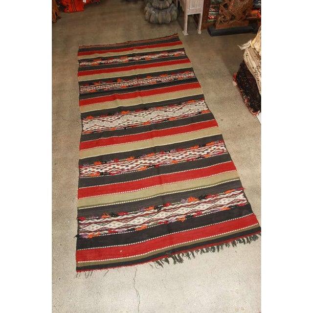 Vintage Moroccan Tribal Kilim Rug North Africa For Sale - Image 10 of 10