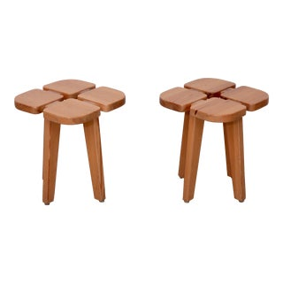 One of two pairs of Lisa Johansson-Pape Stools, Finland, 1950 For Sale