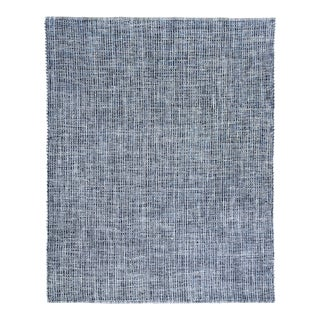 Exquisite Rugs Whitney Handwoven Wool & Viscose Blue - 10'x14' For Sale