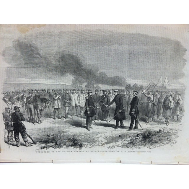 "This is an Antique Original Print from The Illustrated London News that is titled ""Surrender of the Russian General at..."