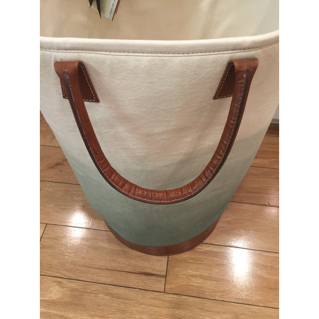 2010s Jamie Young Faded Fabric Bin For Sale - Image 5 of 7