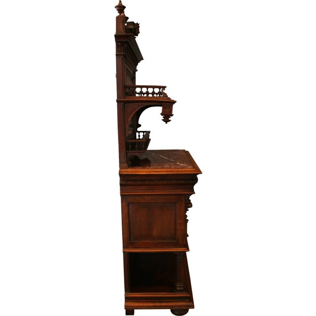 1900 French Renaissance Sideboard Server For Sale - Image 10 of 12